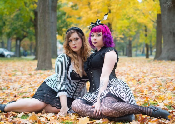 The Glamorous duo of Dolly Monroe and Laura Palmer of Betty Monroe Designs!